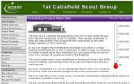 1st Catisfield Scout Group - Rebuild Microsite